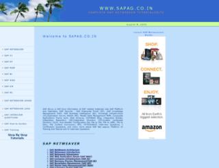 sapag.co.in screenshot