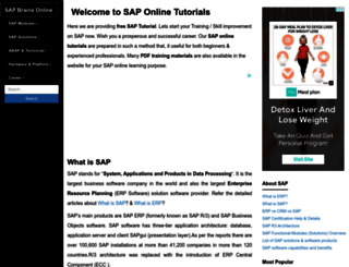 sapbrainsonline.com screenshot