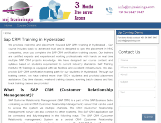 sapcrmtraininghyderabad.in screenshot