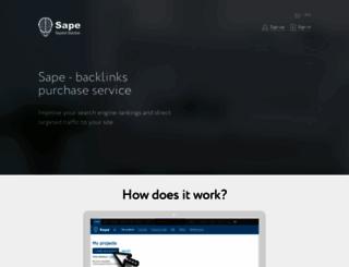 sape.ru screenshot