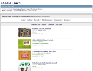 sapeletown.com screenshot