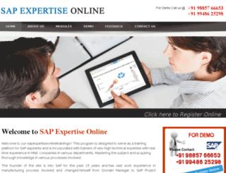 sapexpertiseonline.com screenshot