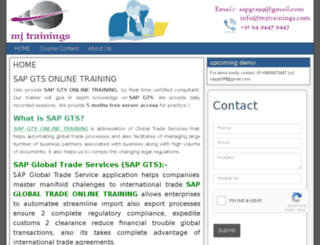sapgtsonlinetraining.com screenshot