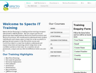 saponlinetraining.co.uk screenshot