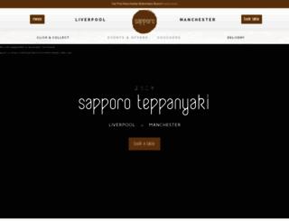 sapporo.co.uk screenshot