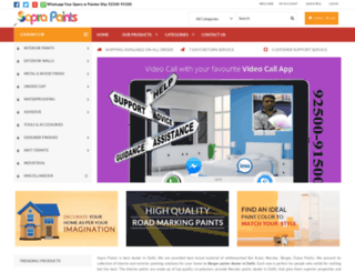 saprapaints.com screenshot