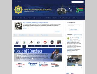 saps.gov.za screenshot