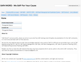sapsword.com screenshot