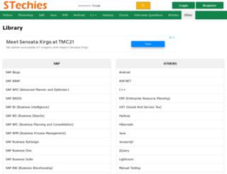 saptechies.com screenshot