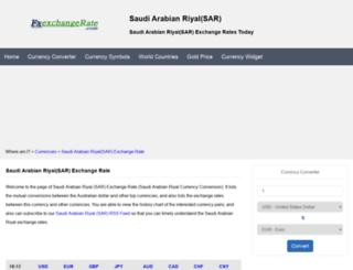 sar.fxexchangerate.com screenshot