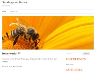 sarahbrydenbrown.com screenshot