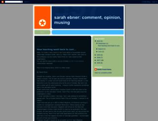 sarahebnercomment.blogspot.com screenshot