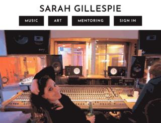 sarahgillespie.com screenshot