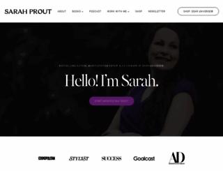 sarahprout.com screenshot