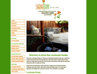 sarahraylandscapedesign.com screenshot