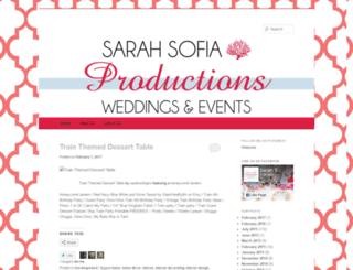 sarahsofiaproductions.wordpress.com screenshot