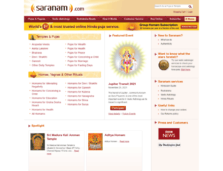 saranam.com screenshot