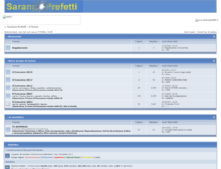 sarannoprefetti.forumfree.net screenshot