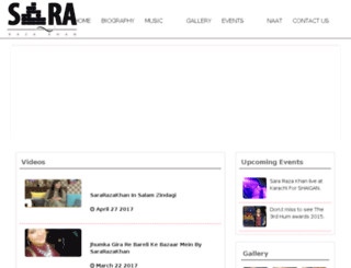 sararazakhan.net screenshot