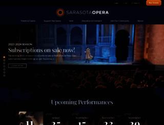 sarasotaopera.org screenshot