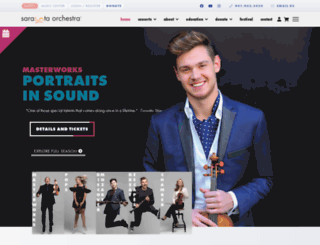 sarasotaorchestra.org screenshot