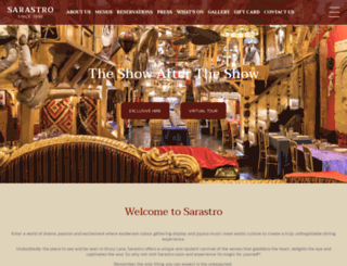 sarastro-restaurant.com screenshot