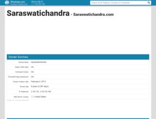 saraswatichandra.com.websitevaluespy.com screenshot