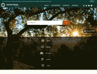 saratoga.ca.us screenshot