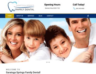 saratogaspringsfamilydental.com screenshot