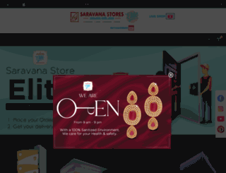 saravanastores.in screenshot