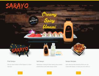 sarayosauce.com screenshot
