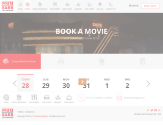 sarbmultiplex.com screenshot