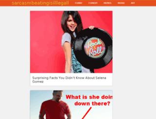 sarcasmbeatingisilllegall.com screenshot