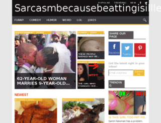 sarcasmbecausebeattingisilllegal.com screenshot