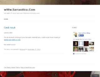sarcasticu.wordpress.com screenshot