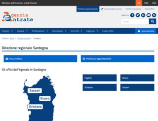 sardegna.agenziaentrate.it screenshot