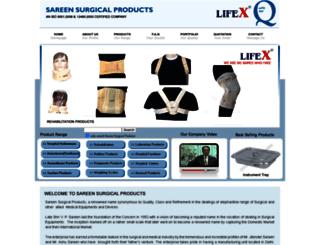 sareensurgicals.com screenshot