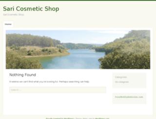 saricosmeticshop.com screenshot