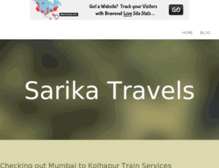 sarikatravels.bravesites.com screenshot