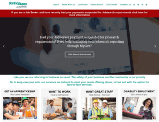 sarinarussorecruitment.com.au screenshot
