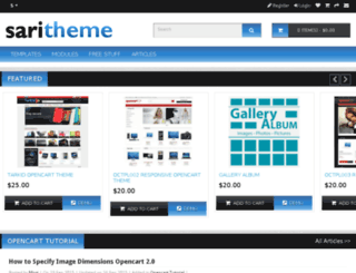 saritheme.com screenshot