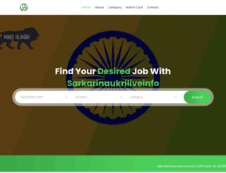 sarkarinaukriliveinfo.com screenshot