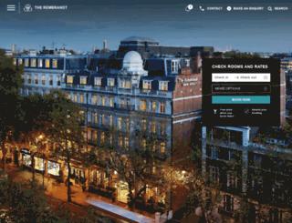 sarova-rembrandthotel.com screenshot