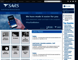 sars.gov.za screenshot