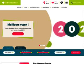 sarthe-habitat.fr screenshot