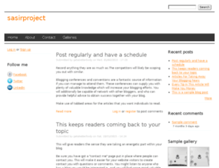 sasirproject.drupalgardens.com screenshot