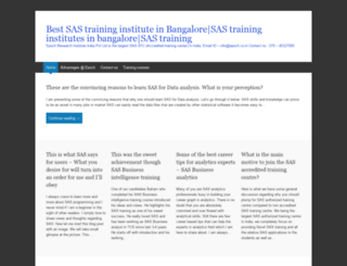 sastraininginstituteinbangalore.wordpress.com screenshot