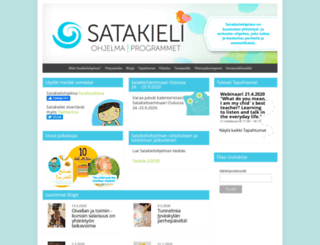 satakieliohjelma.fi screenshot