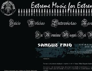 satanicmilitiamagazine.com.br screenshot