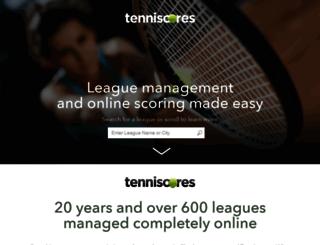 satellite.tenniscores.com screenshot